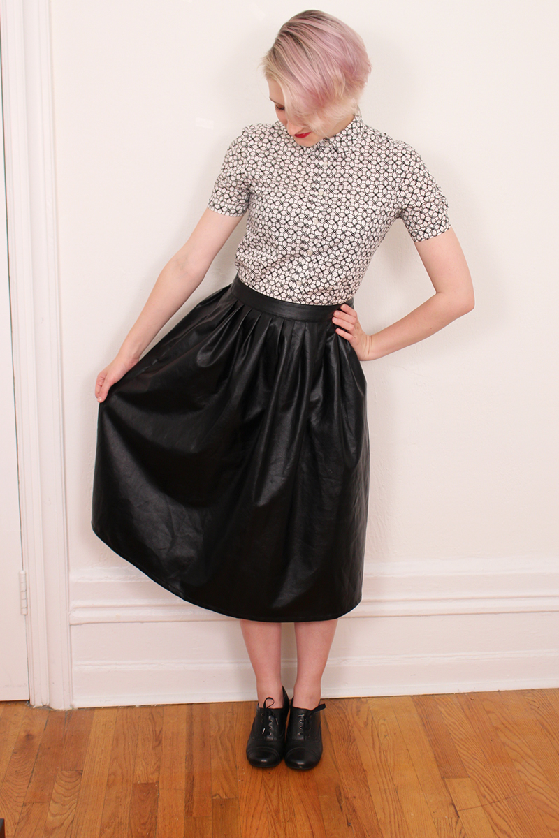 how to wear a pleather midi skirt an analysis that