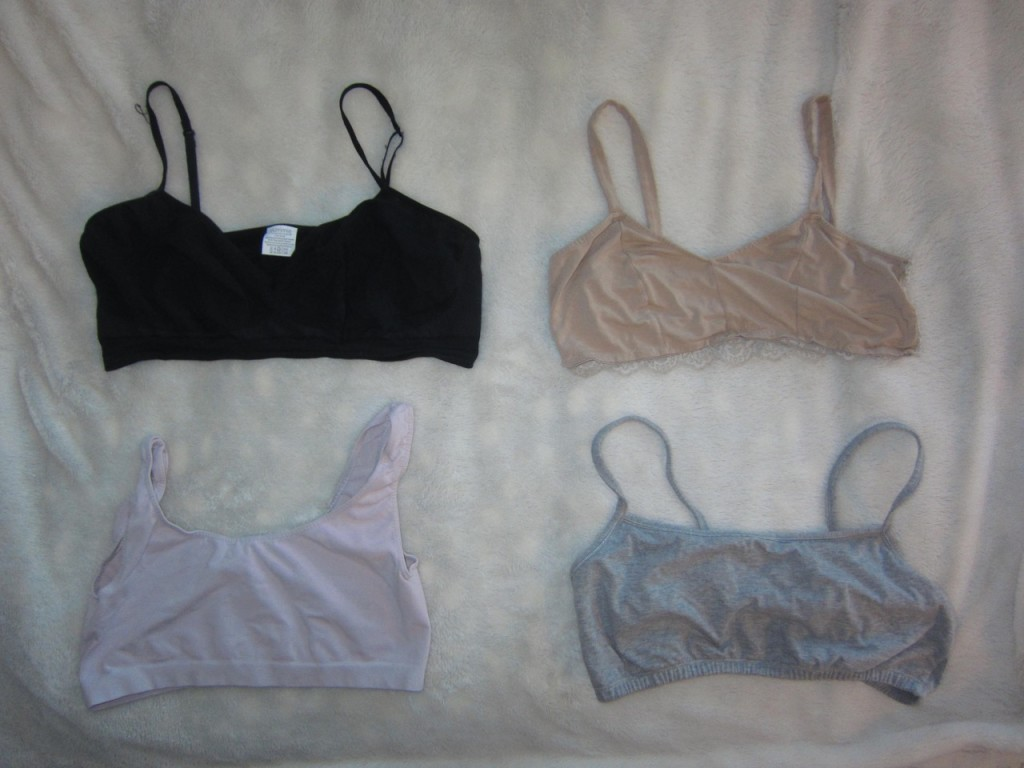 Indentation free support:   Yummie,  Only Hearts So Fine Bralette,  Cosabella Smooth collection,