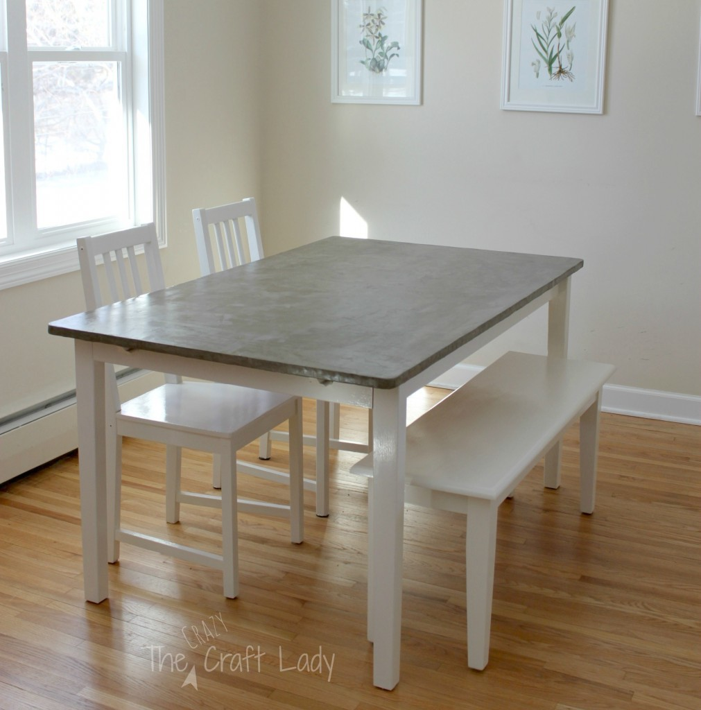 diy concrete kitchen table