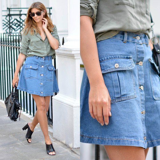 4548415_lookbook_khaki_shirt_denim_skirt